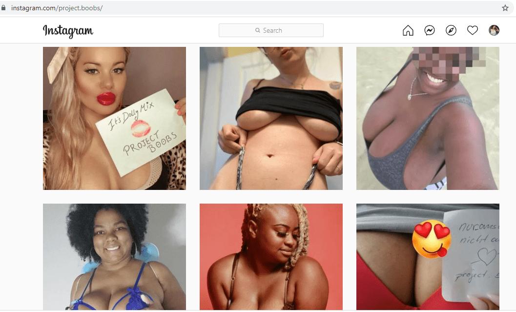 project boobs IG